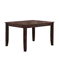W.Designs Abigail Espresso Wood 60 in. Traditional Dining Table