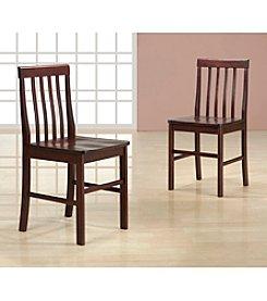 W.Designs Ashlyn Set of 2 Espresso Wood Dining Chairs