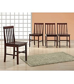 W.Designs Ashlyn Set of 4 Espresso Wood Dining Chairs