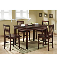 W.Designs Ashlyn 5-pc. Espresso Wood Dining Set