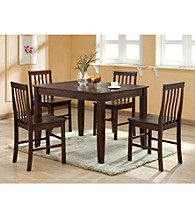W.Designs Abigail 5-pc. Espresso Wood Dining Set