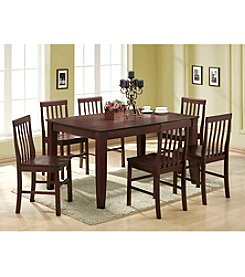 W.Designs Abigail 7-pc. Espresso Wood  Dining  Set