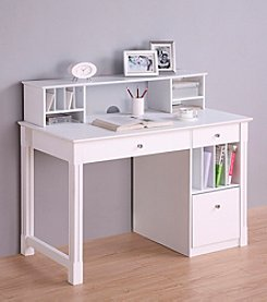 W.Designs Lia Deluxe White Wood Computer Desk Collection