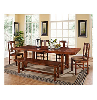 W.Designs Huntsman 6-pc. Dark Oak Solid Wood Dining Set