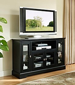 W.Designs Dineen Highboy Style Black Wood TV Stand