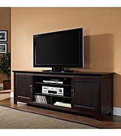 W.Designs Fairmount  Wood TV Stand with Sliding Doors