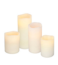 Gerson Bisque LED Flameless Pillar Candle with Timer