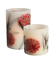 Gerson LED Flameless Embedded Botanical Candle