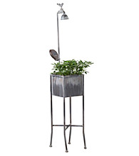 LivingQuarters LED Solar Single Flower Pot