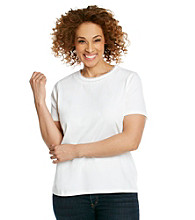 Breckenridge® Plus Size Crochet Crewneck Tee