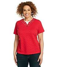 Breckenridge® Plus Size Textured Layred Look Top