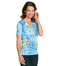 Breckenridge® Zen Blue Sublimation Tee