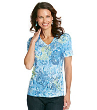 Breckenridge® Petites' Zen Blue Sublimation Tee