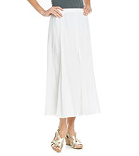Alfred Dunner® Stretch Waistband Solid Long Gauze Skirt