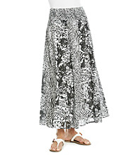 Studio West Smock Waistband Long Detail Skirt