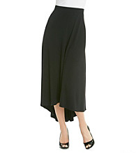 NY Collection Solid High-Low Skirt