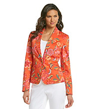 Jones New York Signature® Orange Floral Stretch Blazer