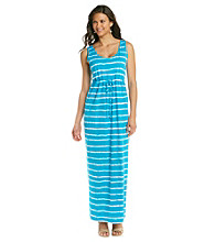 Chaus Wave Stripe Maxi Dress