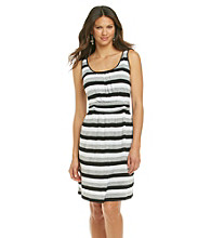 Chaus Stripe Banded Dress