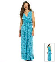 Chaus Wrap Maxi Texture Dress