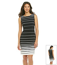 Chaus Back Zip Gradient Stripe Dress