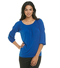 Anne Klein® Smock Neck Top