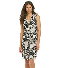 Anne Klein® Neutral Floral Print Dress