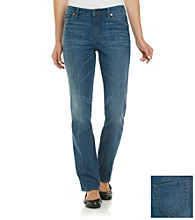 Anne Klein® Medium Wash Straight Jean