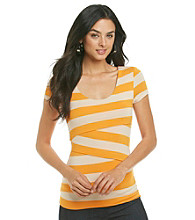 Vince Camuto® Striped Bandage Top