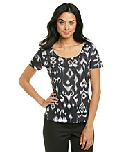 Laura Ashley® Ikat Print Sublimation Tee
