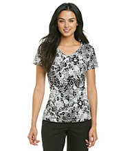 Laura Ashley® Shine Lace Animal Print Tee
