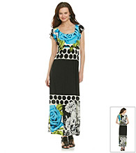 Oneworld® Floral Dot Maxi Dress