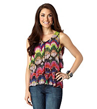 Democracy Chiffon Peplum Top