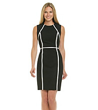 Calvin Klein Contrast Piping Sheath Dress