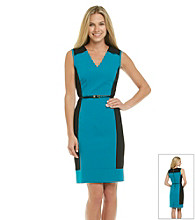Calvin Klein Contrast Sheath Dress