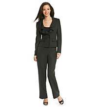 Le Suit® Ruffle Collar Jacket With Pant