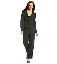 Le Suit® Plus Size Ruffle Collar Jacket With Pant