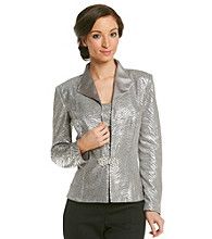Cachet® Shawl Collar Jacket With Cami