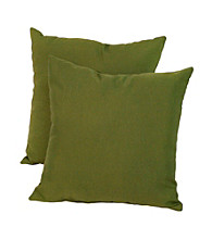 Greendale Home Fashions Set of Two Summerside Green Outdoor Accent Pillows