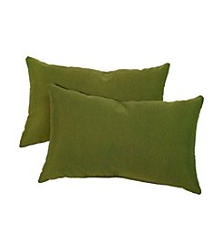 Greendale Home Fashions Set of Two Summerside Green Rectangle Outdoor Accent Pillows