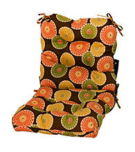Greendale Home Fashions Flowers on Chocolate Outdoor Seat or Back Chair Cushion