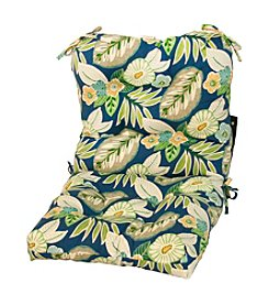 Greendale Home Fashions Blue Floral Outdoor Seat or Back Chair Cushion