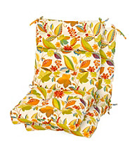 Greendale Home Fashions Set of Two Espirit Outdoor High Back Chair Cushions