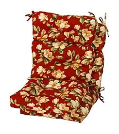 Greendale Home Fashions Set of Two Roma Floral Outdoor High Back Chair Cushions