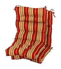 Greendale Home Fashions Set of Two Roma Stripe Outdoor High Back Chair Cushions