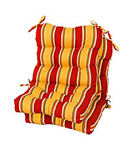 Greendale Home Fashions Set of Two Carnical Stripe Outdoor Seat or Back Chair Cushions