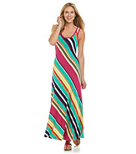 Calvin Klein Bias Stripe Maxi Dress