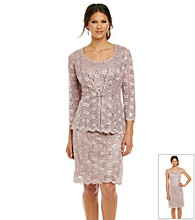 R & M Richards® Sequin Lace Jacket Dress