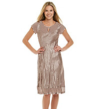 S.L. Fashions Crinkle Satin Dress
