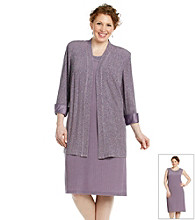 R & M Richards® Plus Size Sparkle Jacket and Dress